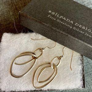 Silpada Silver Intertwined Oval Loop Earrings